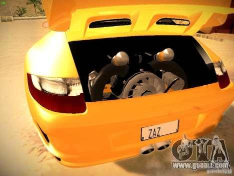 Porsche 911 for GTA San Andreas bottom view
