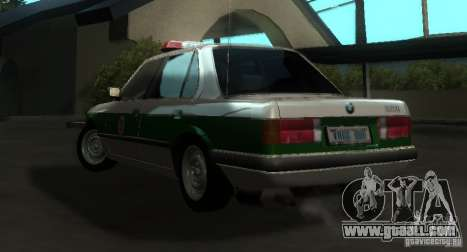 BMW E30 Sedan Police for GTA San Andreas back left view