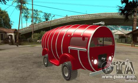 Beer Barrel Truck for GTA San Andreas back view