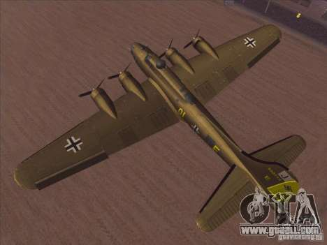 B-17G Flying Fortress for GTA San Andreas right view