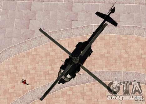 MH-60K Black Hawk for GTA 4 back view