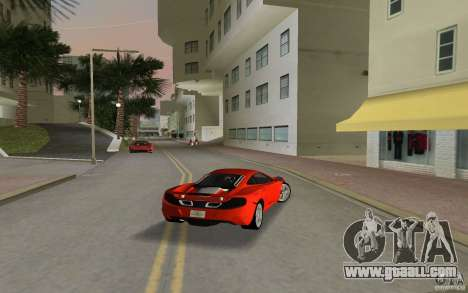 Mclaren MP4-12C for GTA Vice City right view