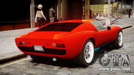 Lamborghini Miura P400 1966 for GTA 4 right view