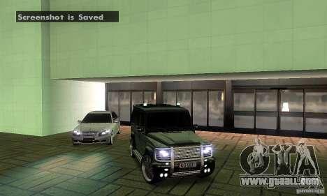 Mercedes Benz G500 ART FBI for GTA San Andreas upper view