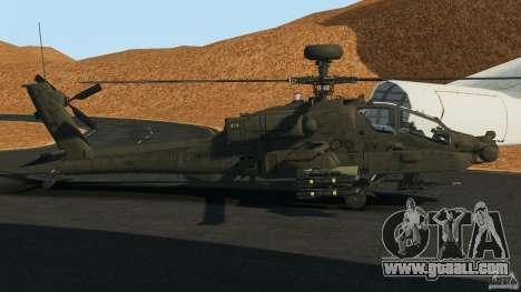 Boeing AH-64 Longbow Apache v1.1 for GTA 4 left view