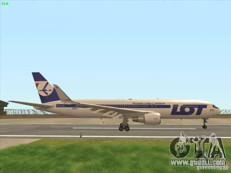Boeing 767-300 LOT Polish Airlines for GTA San Andreas side view