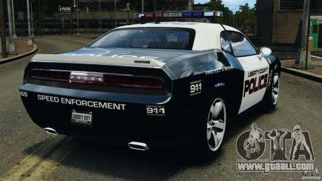 Dodge Challenger SRT8 392 2012 Police [ELS][EPM] for GTA 4 back left view