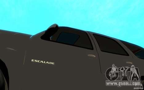 Cadillac Escalade for GTA San Andreas inner view