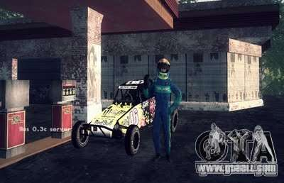 Buggy Monster energy for GTA San Andreas back left view