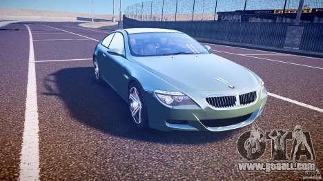 BMW M6 v1.0 for GTA 4 inner view