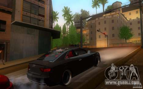 Audi S5 Black Edition for GTA San Andreas right view