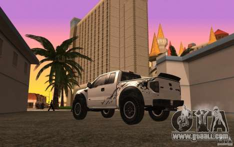 Ford F150 SVT RapTor for GTA San Andreas upper view
