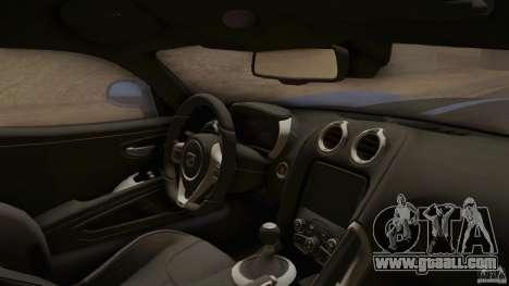 Dodge Viper GTS 2013 for GTA San Andreas right view