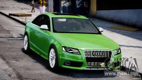 Audi S4 2010 v1.0 for GTA 4 back view