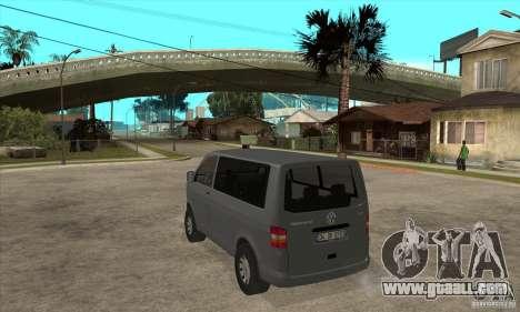 Volkswagen Transporter T5 TDI for GTA San Andreas back left view