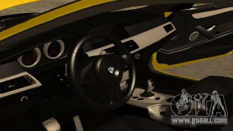 BMW M5 E39 for GTA San Andreas bottom view
