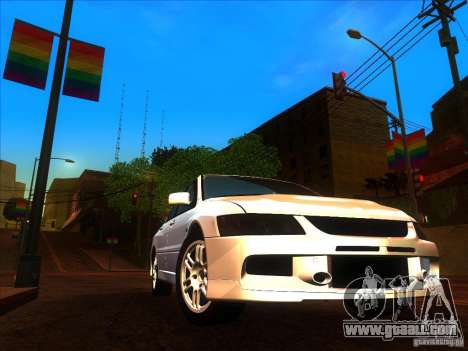 Mitsubishi Lancer Evolution IX MR for GTA San Andreas inner view
