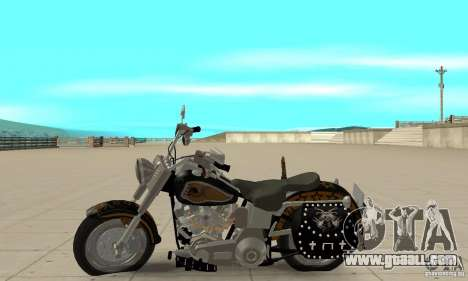 Harley Davidson FLSTF (Fat Boy) v2.0 Skin 5 for GTA San Andreas left view