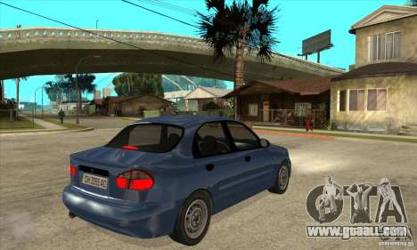 Daewoo Lanos v2 for GTA San Andreas right view