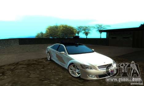 Mercedes-Benz S500 W221 Brabus for GTA San Andreas left view