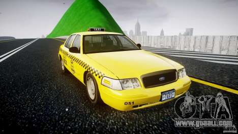 Ford Crown Victoria Raccoon City Taxi for GTA 4 right view