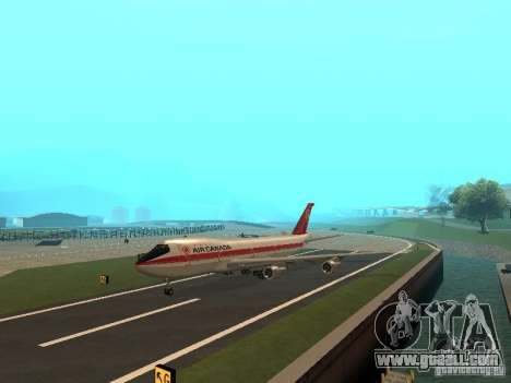 Boeing 747 Air Canada for GTA San Andreas back left view