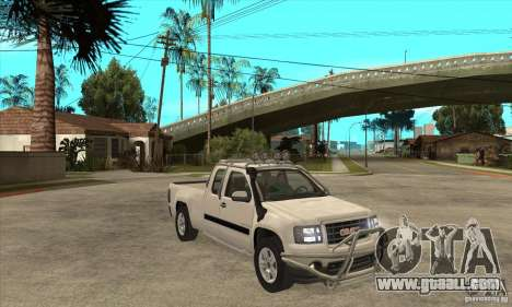 GMC Sierra for GTA San Andreas back view