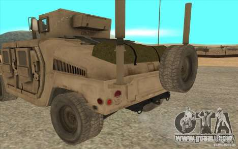 Hummer H1 Military HumVee for GTA San Andreas back left view