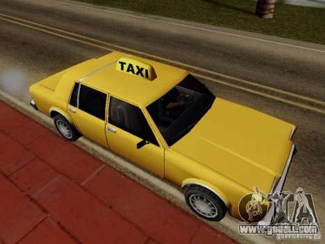 Greenwood Taxi for GTA San Andreas back left view