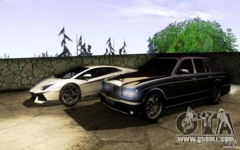 Bentley Arnage R 2005 for GTA San Andreas upper view