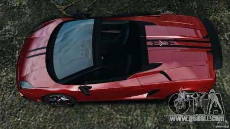 Lamborghini Gallardo LP570-4 Spyder Performante for GTA 4 right view