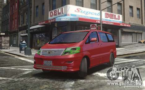 Toyota Alphard v2.0 for GTA 4 left view
