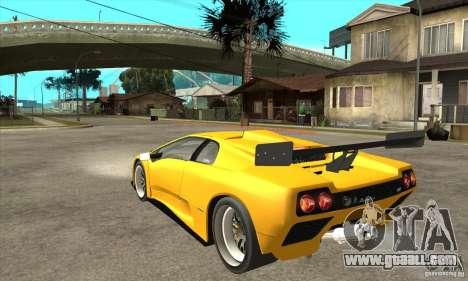Lamborghini Diablo GT-R 1999 for GTA San Andreas back left view