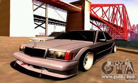 Mercedes-Benz 190E Drift for GTA San Andreas back left view