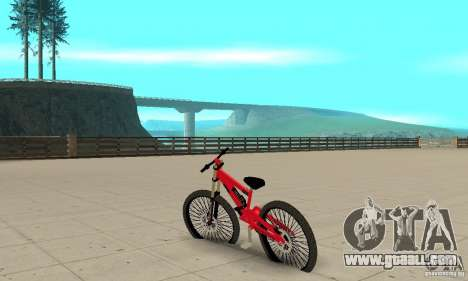 New BMX for GTA San Andreas back left view