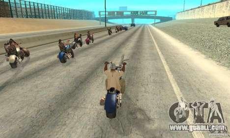 BikersInSa (The BIKERS In SAN ANDREAS) for GTA San Andreas fifth screenshot