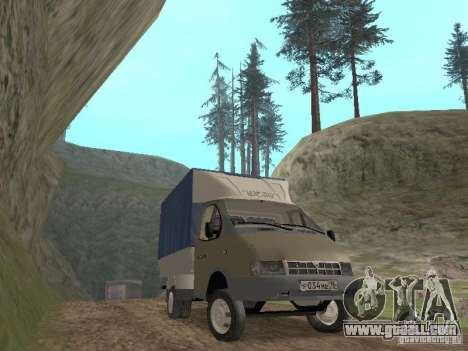 GAZ 3302 in 2001. for GTA San Andreas back view