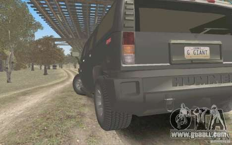 Hummer H2 Stock for GTA San Andreas back left view
