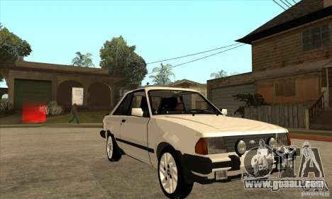 Ford Escort XR3 1986 for GTA San Andreas back view
