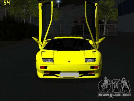 Lamborghini Diablo SV for GTA San Andreas back view