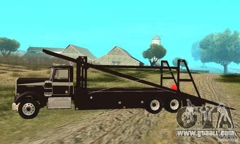 Kenworth Car Hauler for GTA San Andreas left view