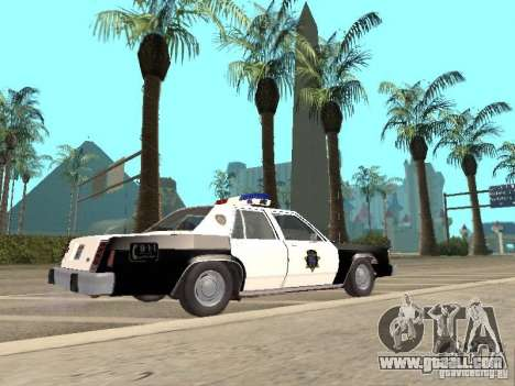 Ford LTD Crown Victoria Interceptor LAPD 1985 for GTA San Andreas left view