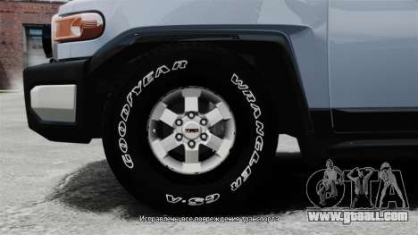 Toyota FJ Cruiser for GTA 4 back view