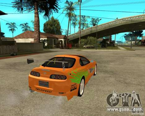 1995 Toyota Supra fnf (BETA!) for GTA San Andreas back left view