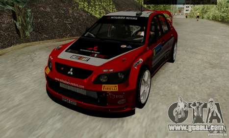 Mitsubishi Lancer Evolution VIII WRC for GTA San Andreas