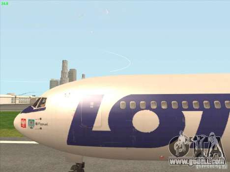 Boeing 767-300 LOT Polish Airlines for GTA San Andreas back view