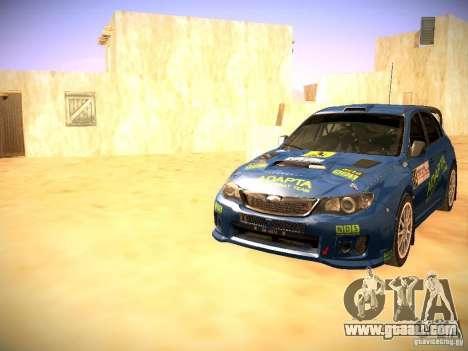 Subaru impreza Tarmac Rally for GTA San Andreas bottom view
