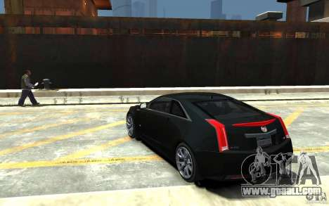 Cadillac CTS-V Coupe 2011 v.2.0 for GTA 4 back left view