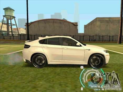 BMW X6 M Hamann Design for GTA San Andreas back left view