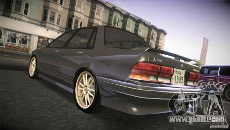 Mitsubishi Galant VR-4 v0.01 for GTA San Andreas back left view